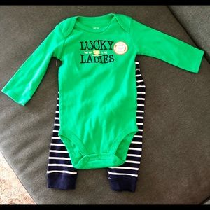 NWT Carter's St Patrick's Day Outfit